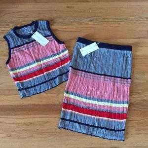 Dresses & Skirts - Lucy Paris striped sweater set
